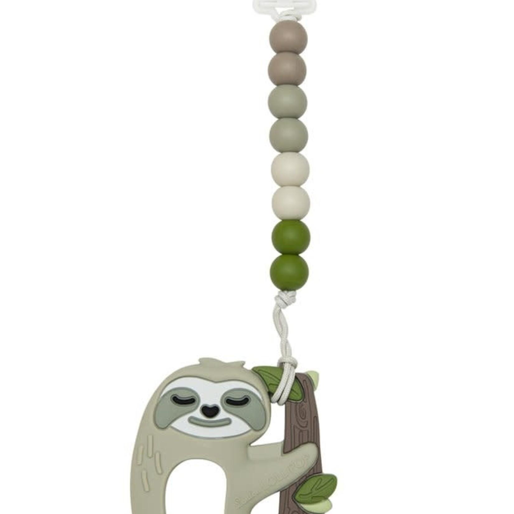 Silicone Teether GEM Set - Sloth