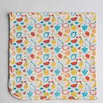 Stretch Knit Swaddle Blanket - Cutie Fruits