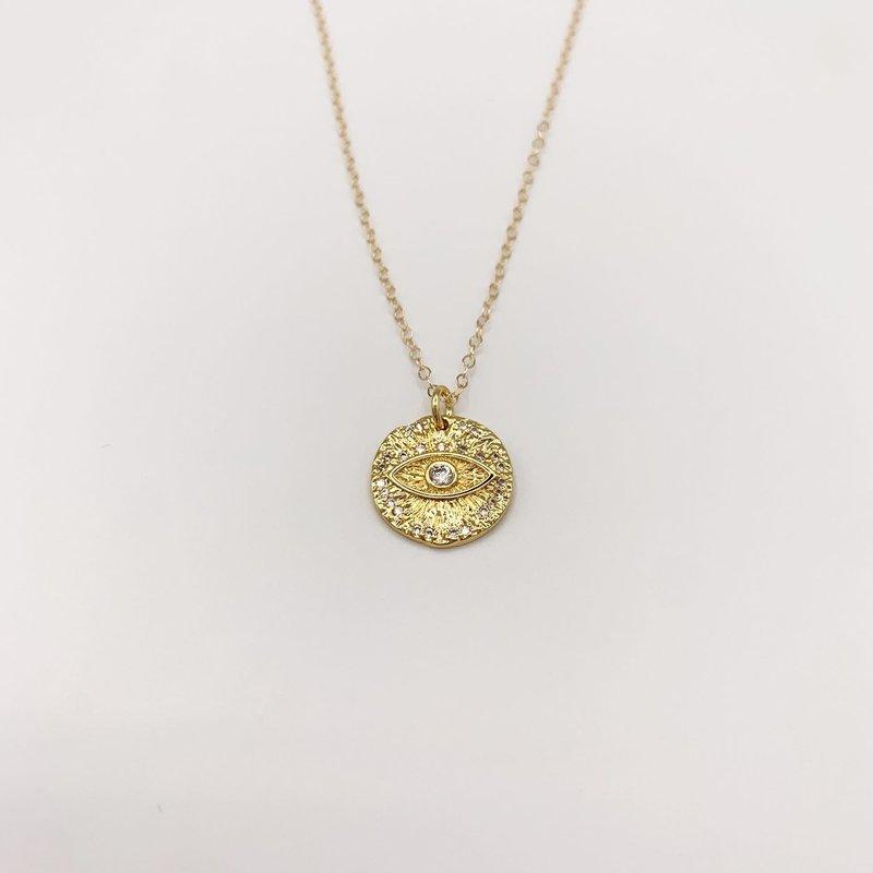 JBA. Gold scarlett Eye Necklace