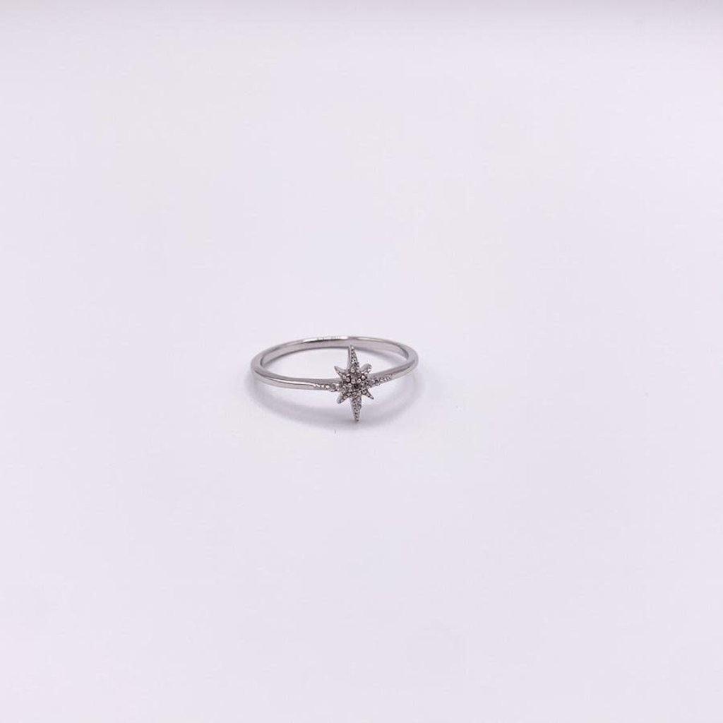 JBA. Silver Delta Star Ring