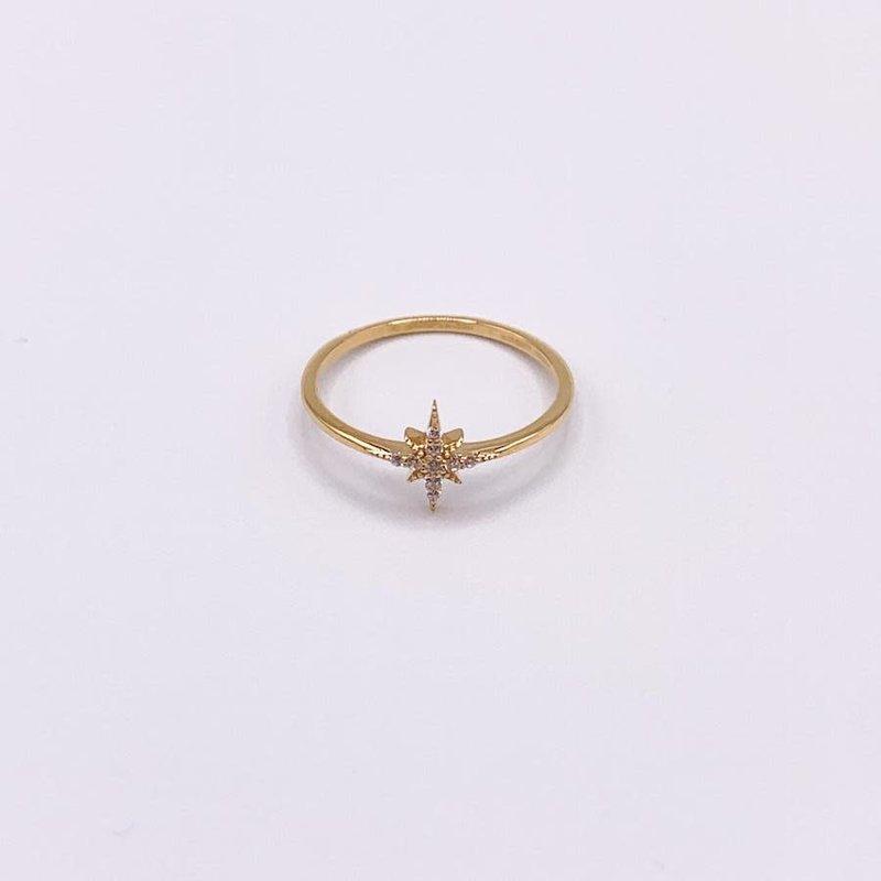JBA. Gold Delta Star Ring