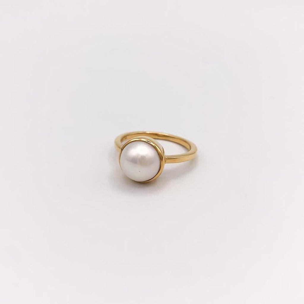JBA. Gold Pearl Hermosa Ring