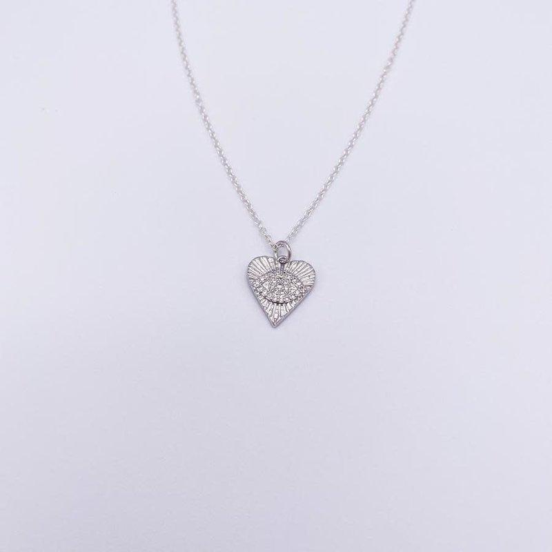 JBA. Silver Angela Loves Heart Necklace