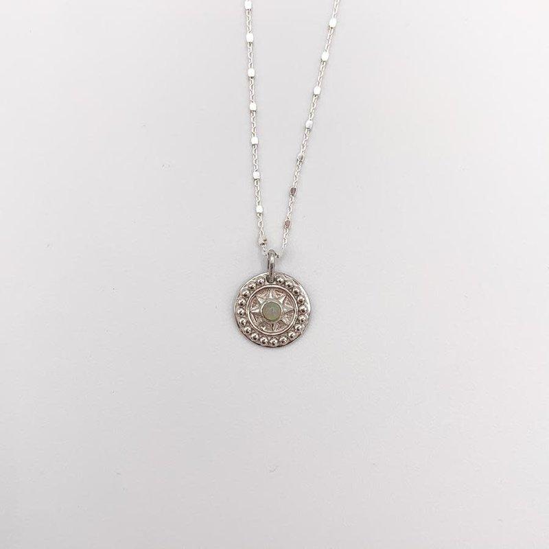 JBA. Silver Opal Necklace