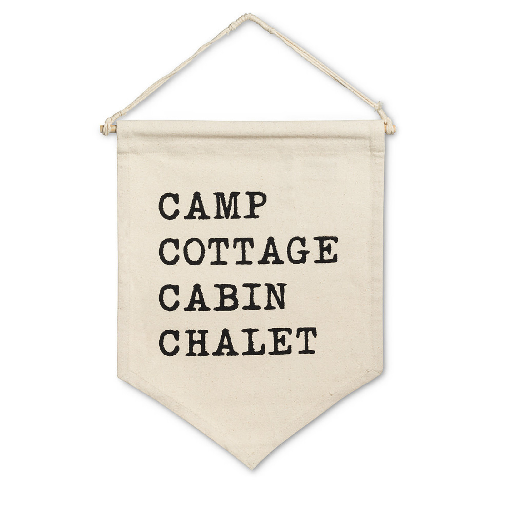 Abbott Collection Camp Cottage Wall Pennant