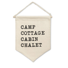 Camp Cottage Wall Pennant