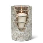 Abbott Collection Grid Cylinder Candle Lantern