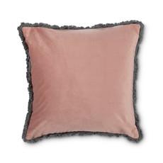 Velvet Pillow w/Fringe Rose