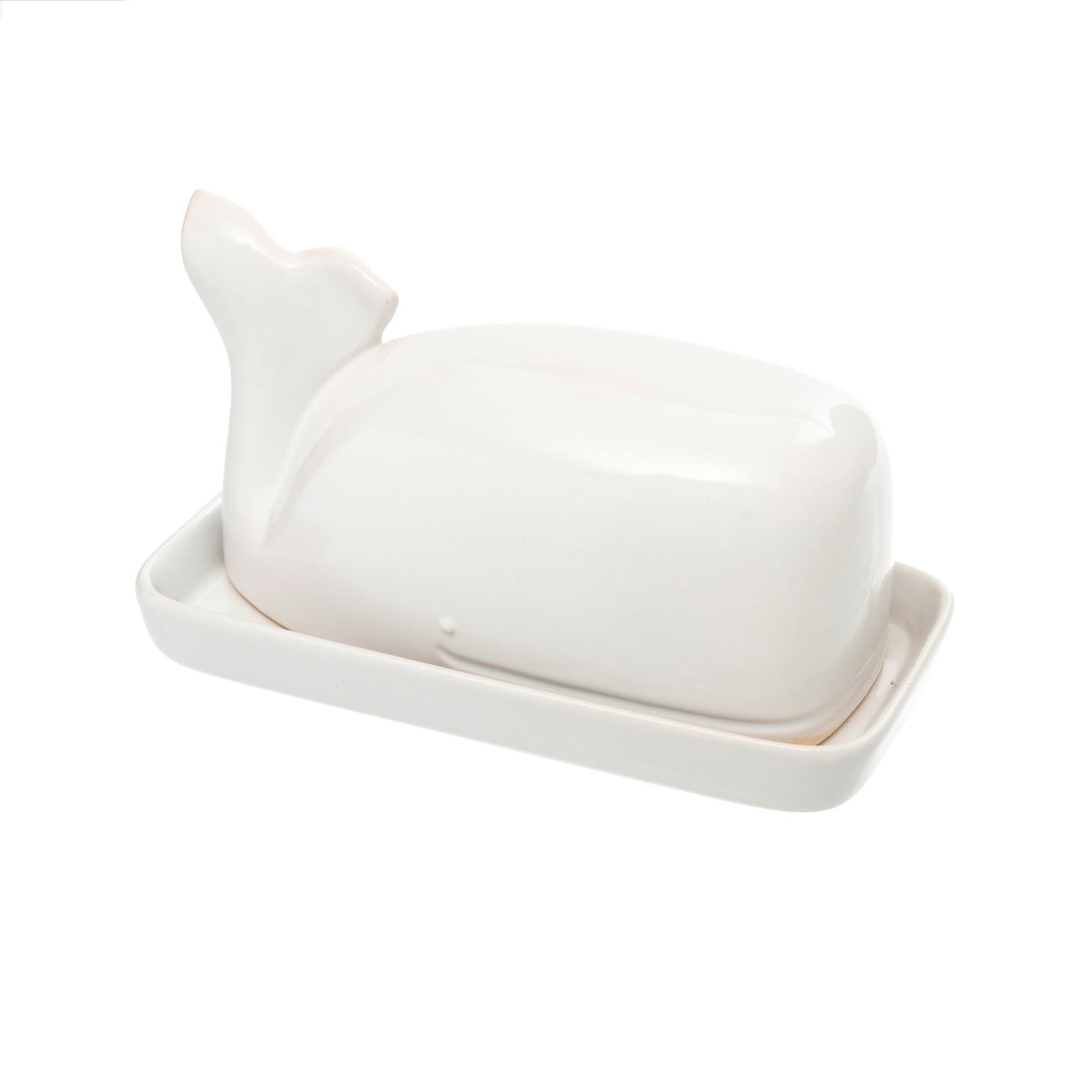 Wild Whale Butter Dish White
