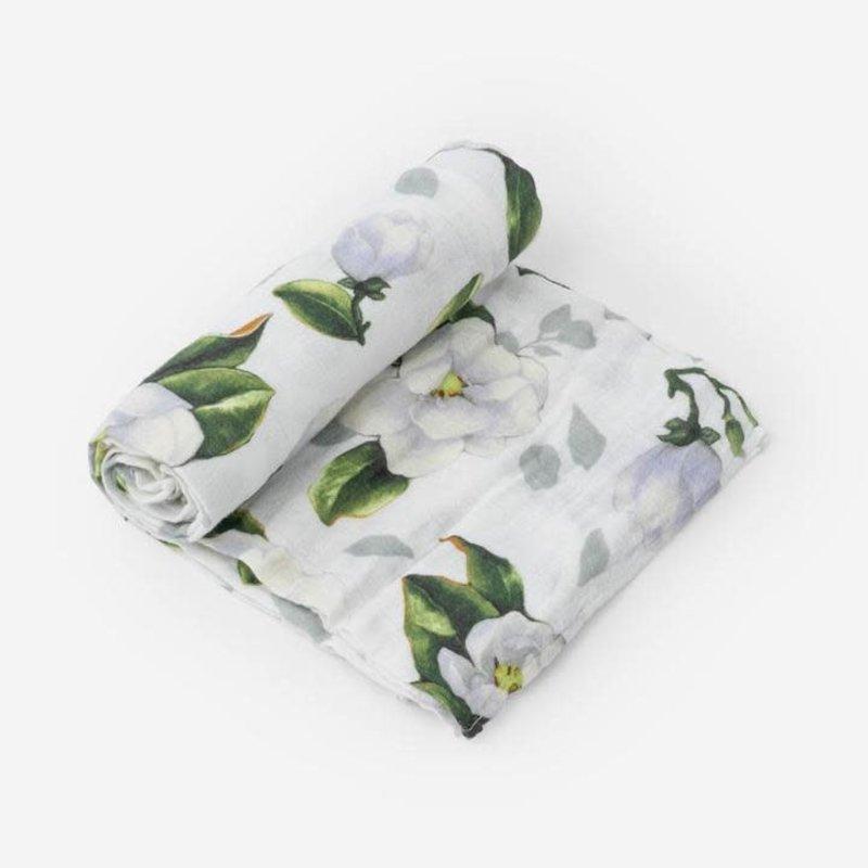 Little Unicorn - Magnolia Blossoms Swaddle Blanket