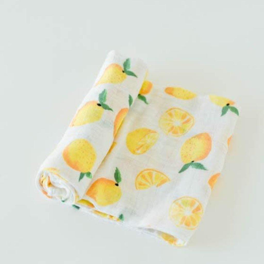 Little Unicorn - Lemon Drop Swaddle Blanket
