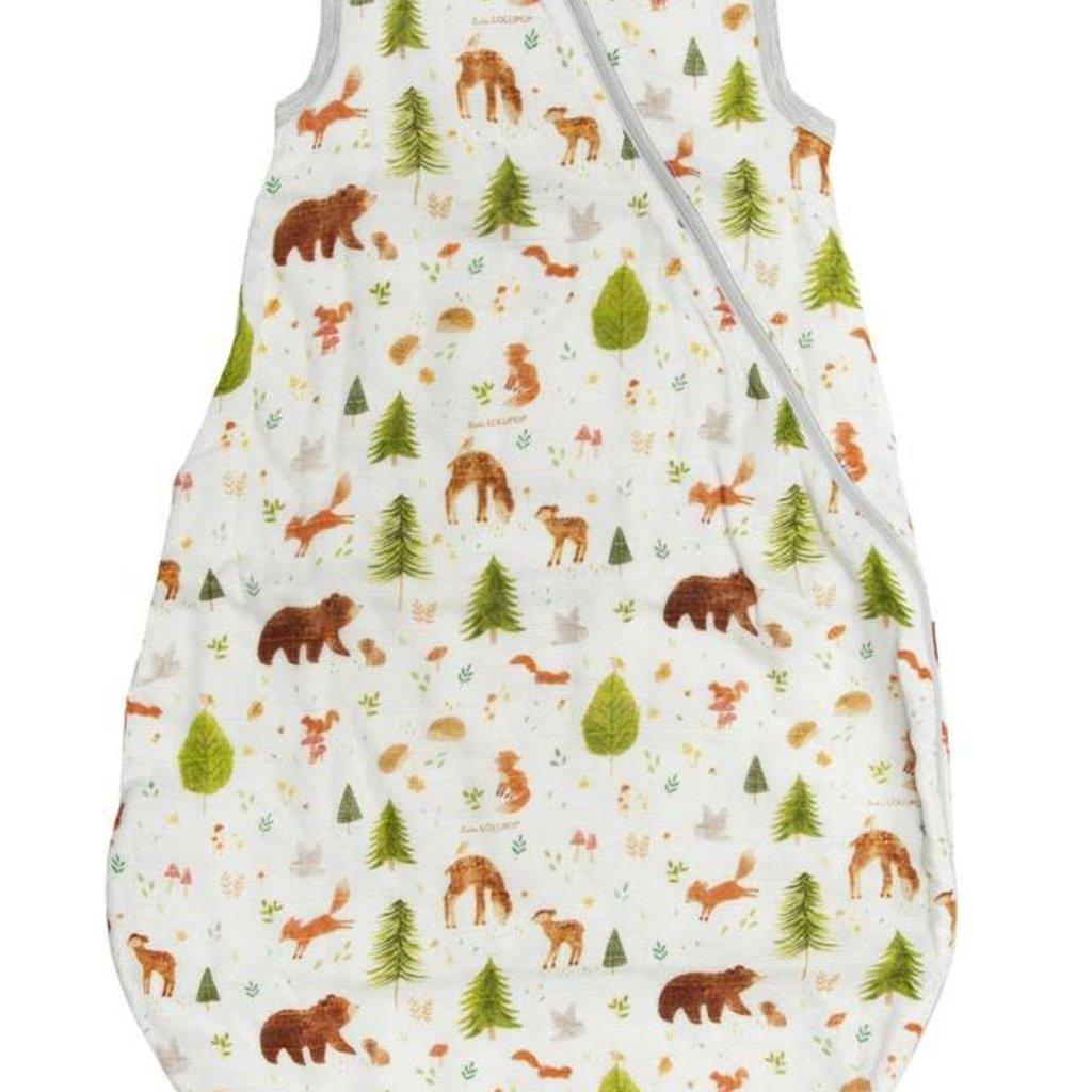 LouLou Lollipop - Muslin Sleep Bag Forest Friends 1TOG