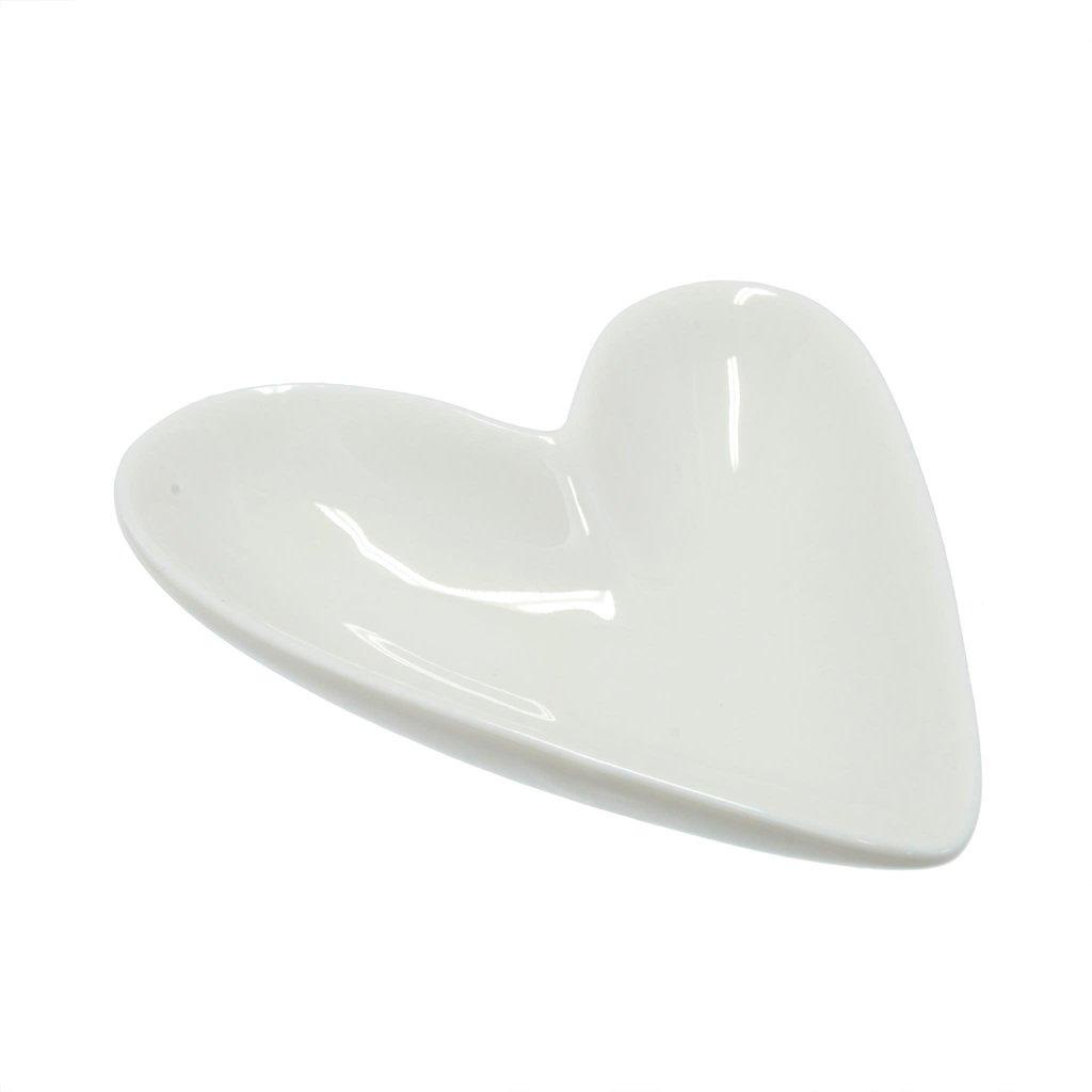 Porcelain Heart Dish Lrg