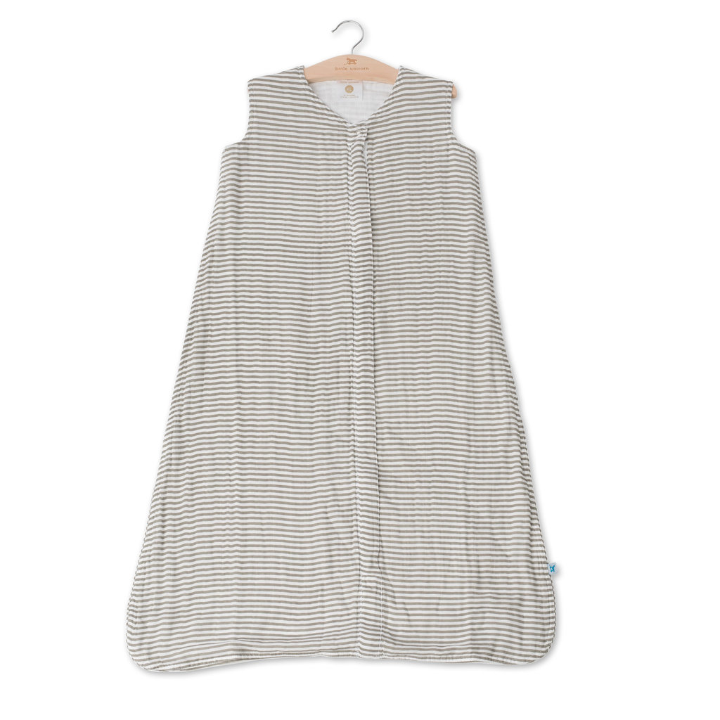 L.U Muslin Sleep Bag | Grey Stripe