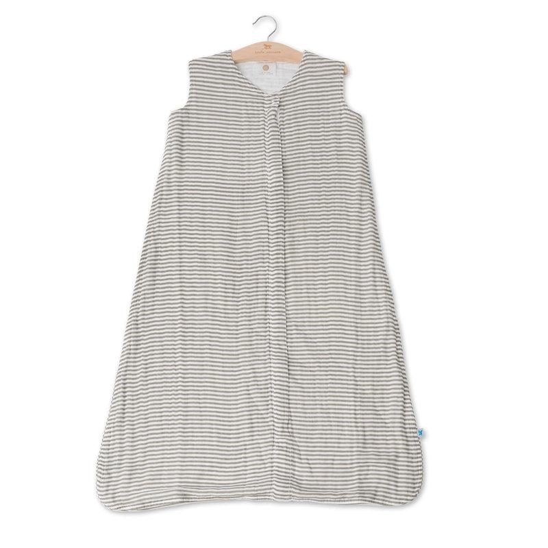 L.U Muslin Sleep Bag   Grey Stripe