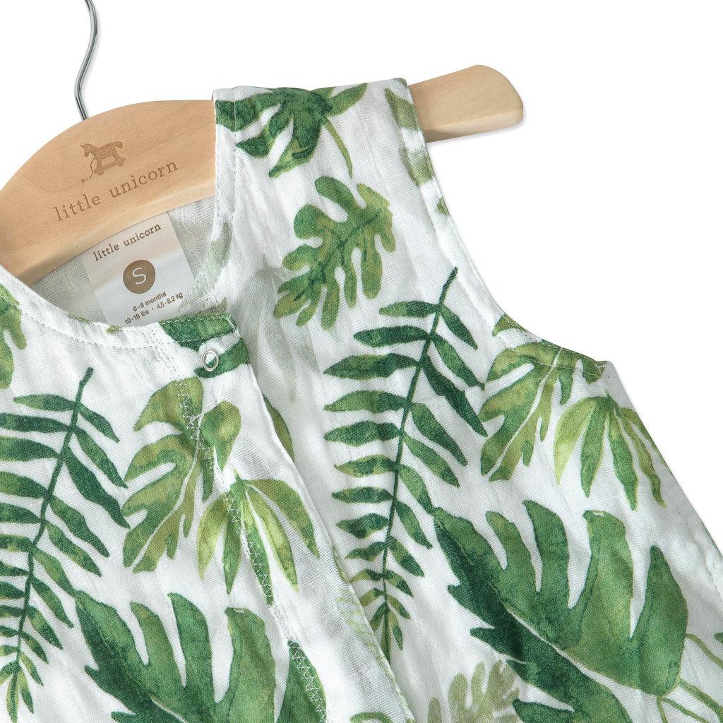 L.U Muslin Sleep Bag   Tropical Leaf