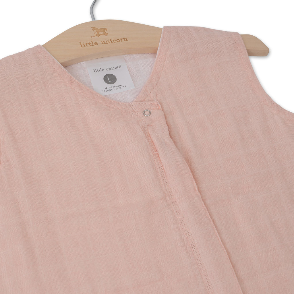 L.U Muslin Sleep Bag | Rose Petal