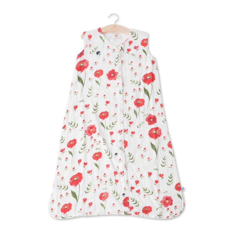 L.U Muslin Sleep Bag   Summer Poppy
