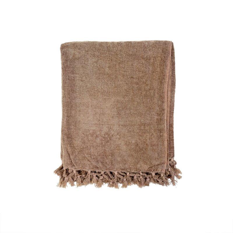 Ultra-Soft Chenille Throw | Beige