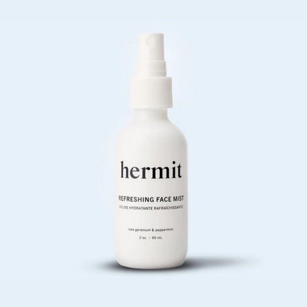 Hermit Hermit Refreshing Face Mist   Rose Geranium & Peppermint