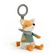 JellyCat Jellycat Little Rambler Fox Rattle