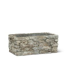 Small Rectangle Stack Stone Planter