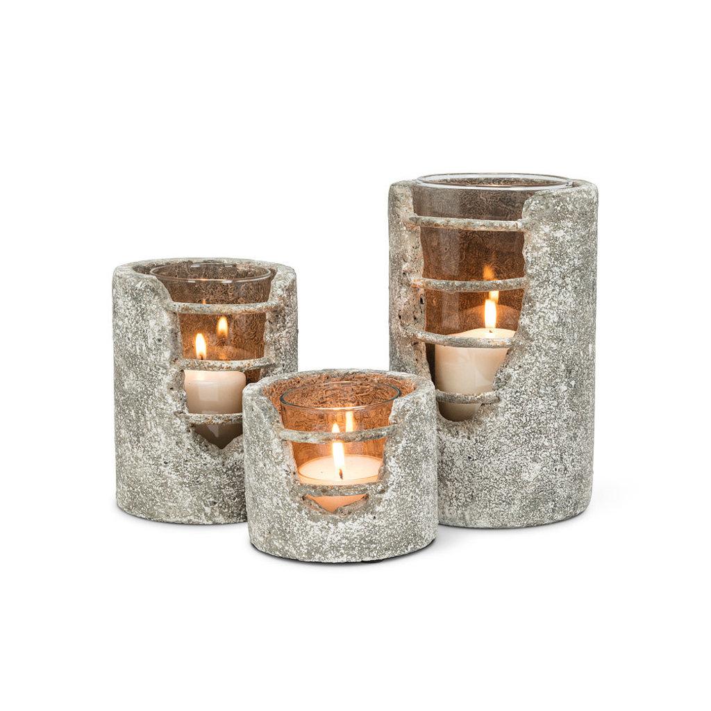 Grid Cylinder Candle Lantern Small