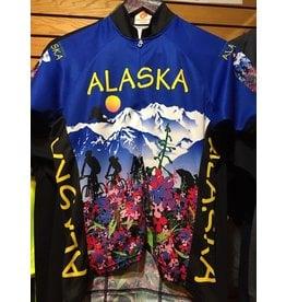 Free Spirit Womens Jersey Free Spirit SS Alaska Flower