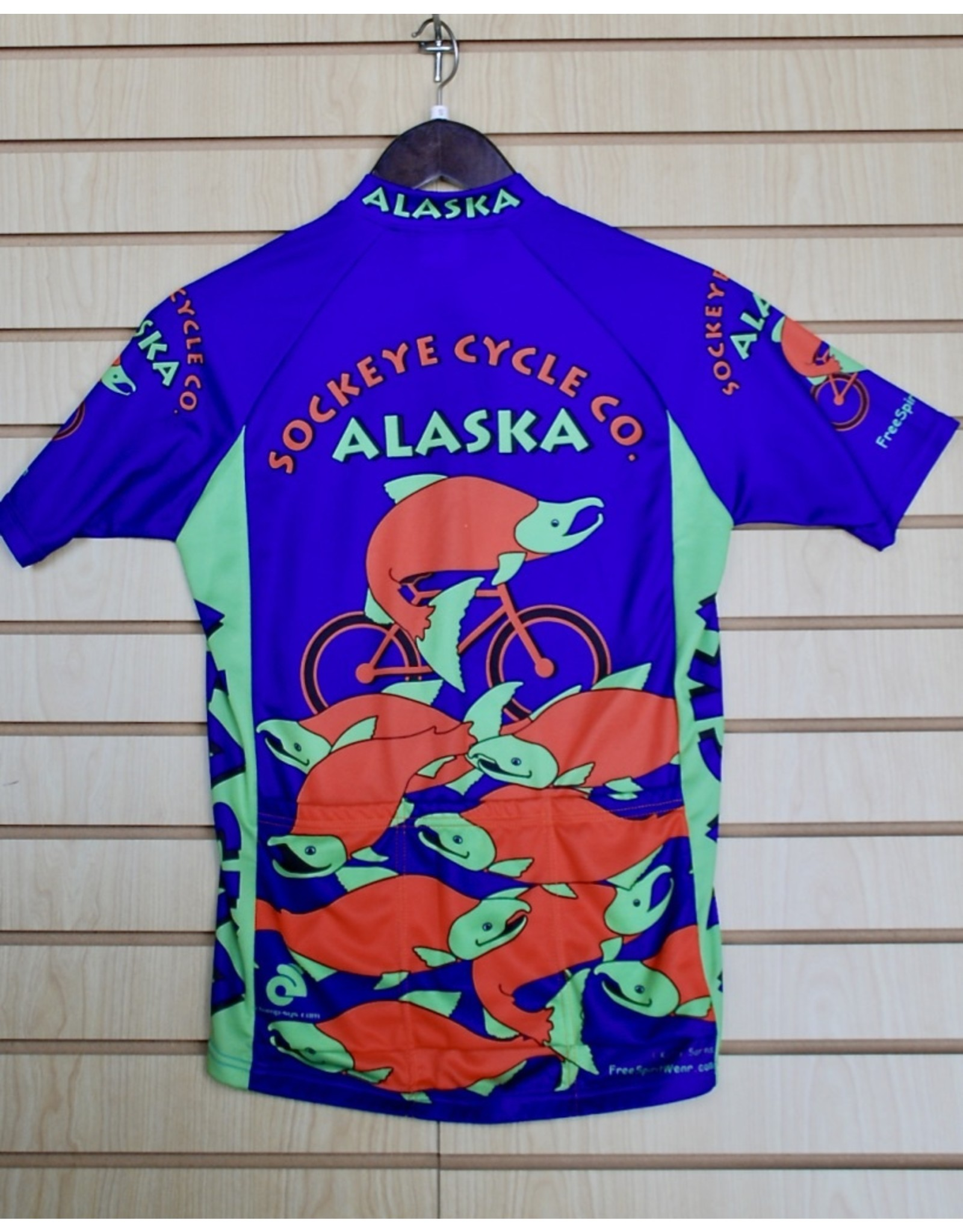 Free Spirit Jersey Free Spirit Mens SS Alaska Sockeye Fish