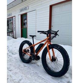 Surly Pugsley Bafang Mid-Drive E-Bike - Orange - Small