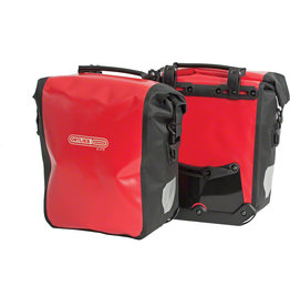 Ortlieb Ortlieb Front Roller City Pannier Pair -  Red/Black - 25L