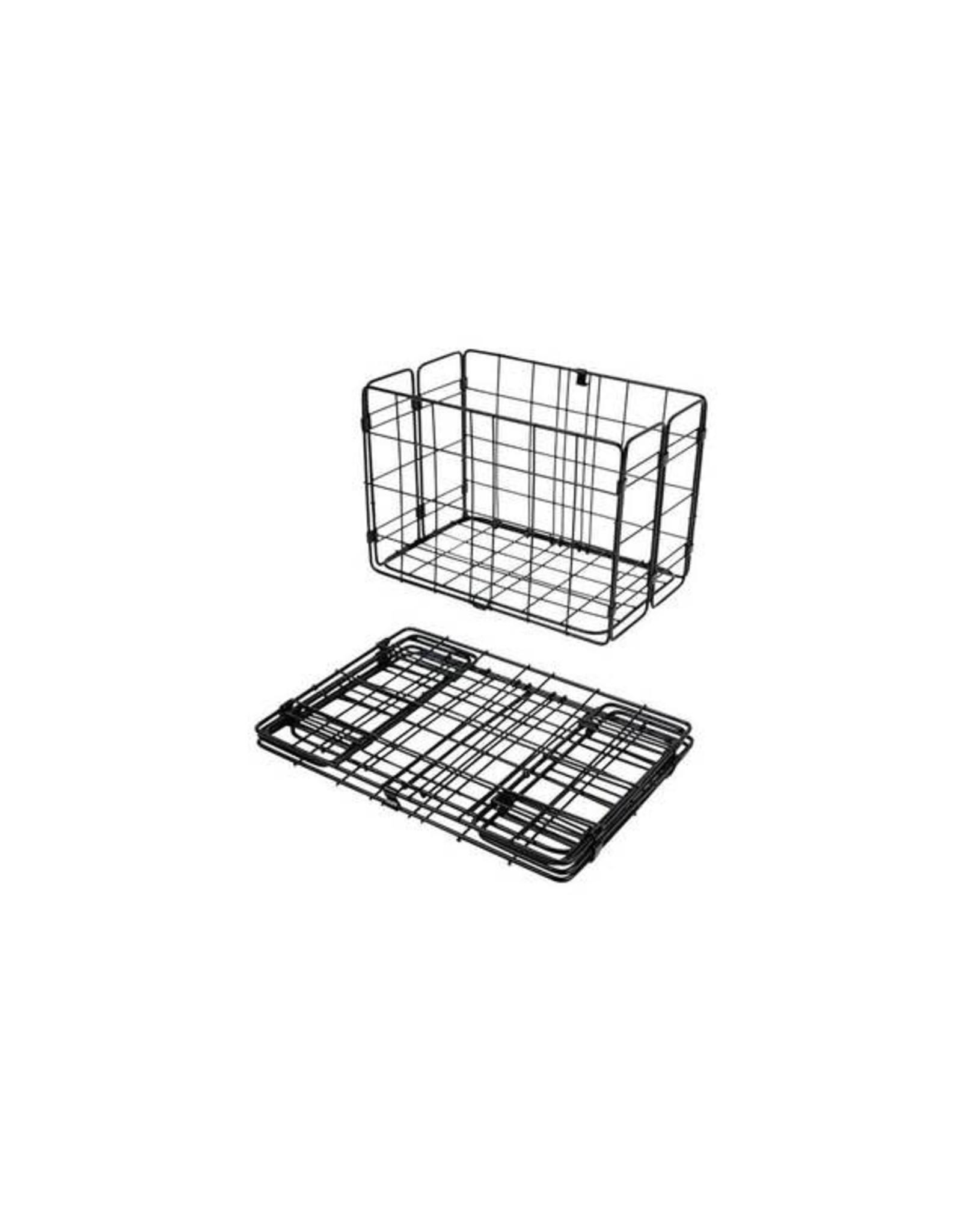 Wald Wald Rear Folding Wire Basket - Black