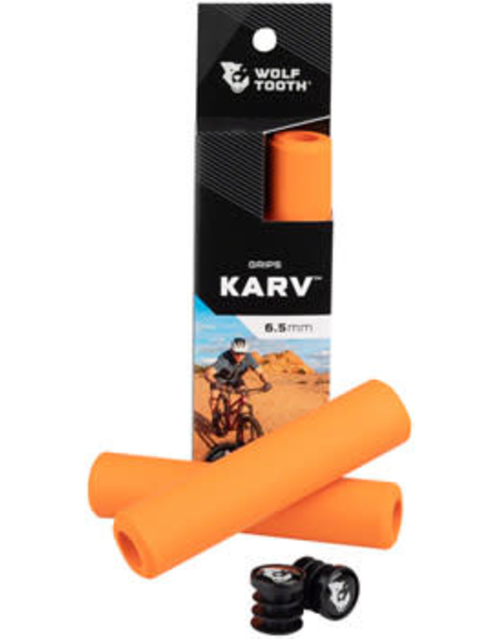 Wolf Tooth Components Wolf Tooth Karv Grips - Orange