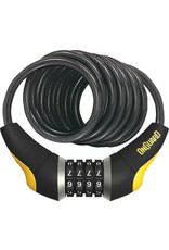Onguard OnGuard Doberman Combo Cable Lock: 6' x 10mm - Gray/Black/Yellow