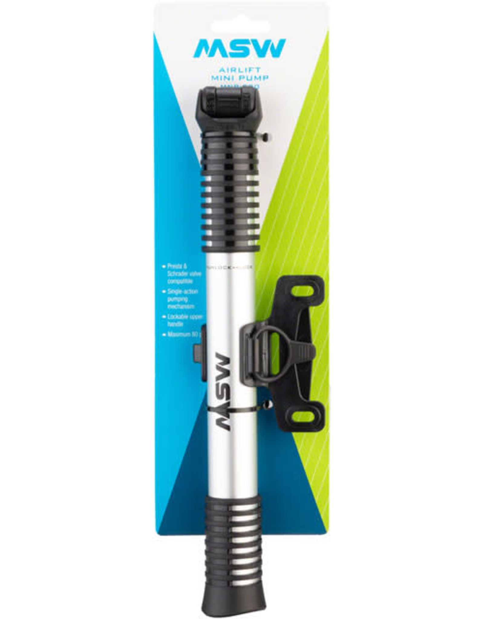 MSW Airlift 200 ATB/Hybrid Mini Frame Pump, 80psi max