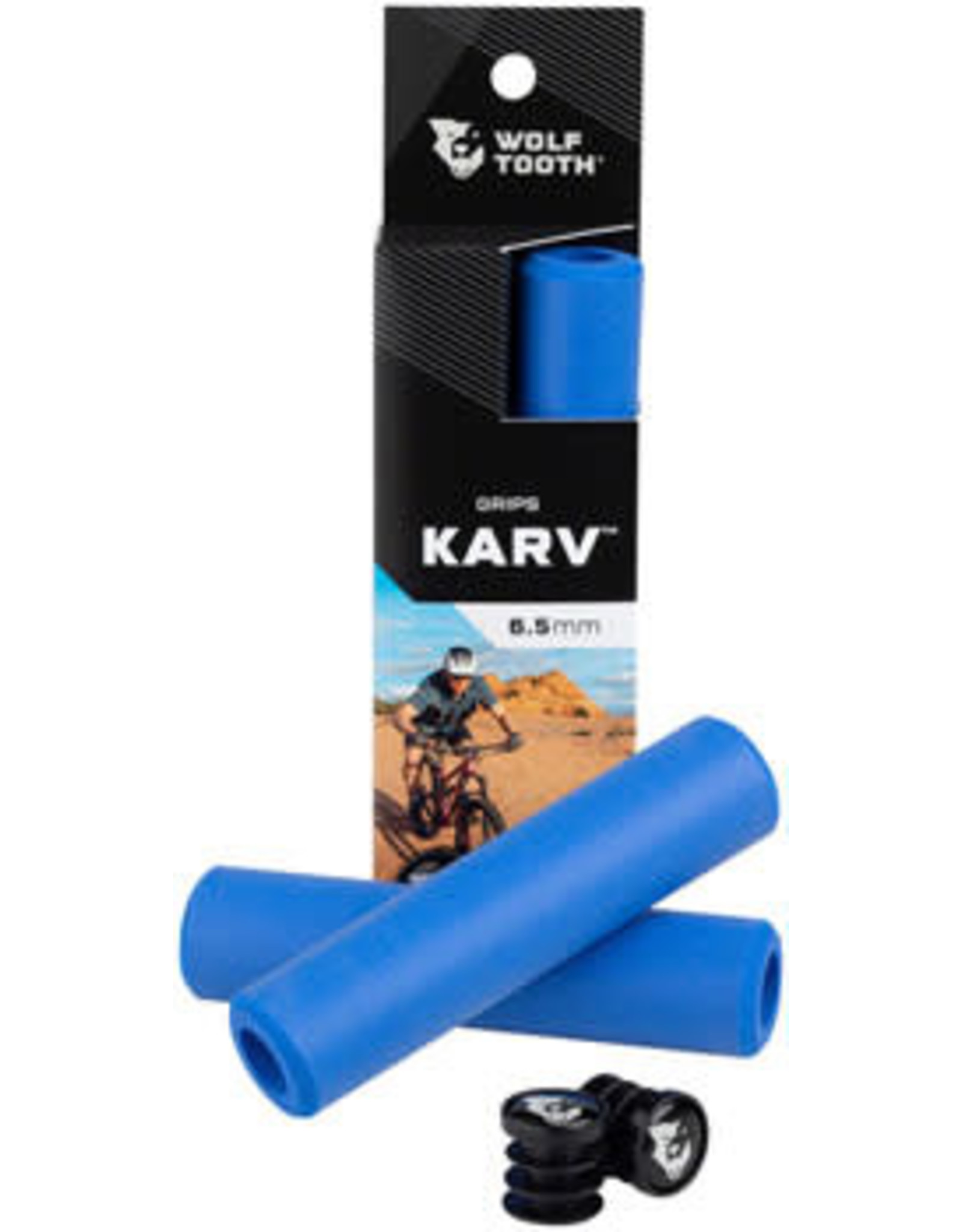 Wolf Tooth Components Wolf Tooth Karv Grips - Blue