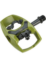 "Issi iSSi Flip II Pedals - Single Side Clipless with Platform, Aluminum, 9/16"", Green"