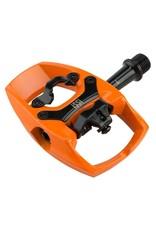"Issi iSSi Flip II Pedals - Single Side Clipless with Platform, Aluminum, 9/16"", Orange"