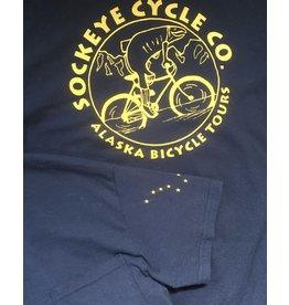Shtumpa Alaska Flag Pocket SS T-Shirt Sockeye Logo Navy/Gold