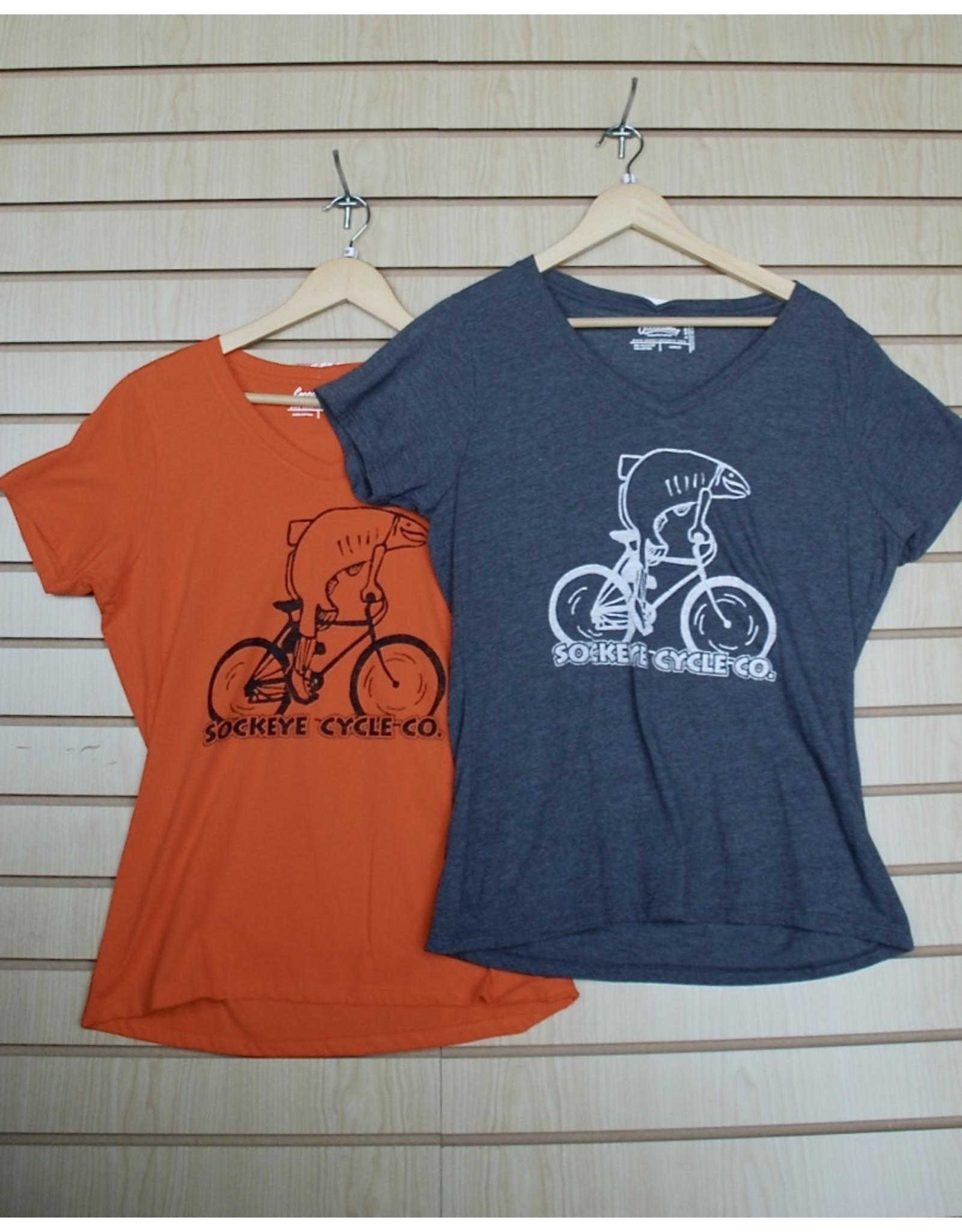 Goodtimes Womens T-shirt SS Fish on a Bike Print