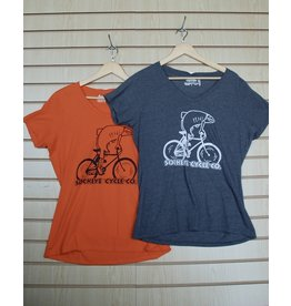 Goodtimes Womens T-shirt SS Fish on a Bike Print