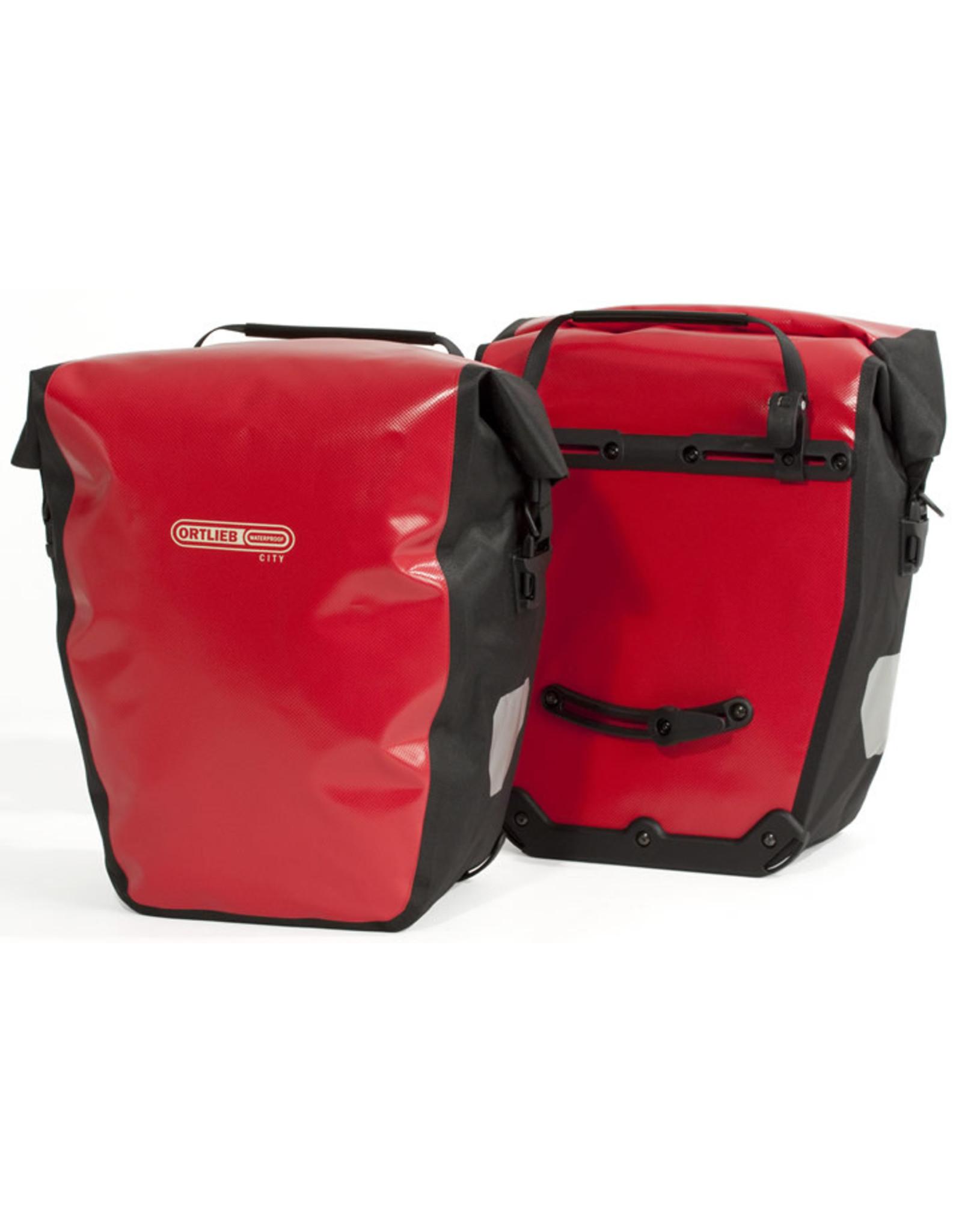 Ortlieb Ortlieb Back Roller City Rear Pannier: Pair Red/Black 40L