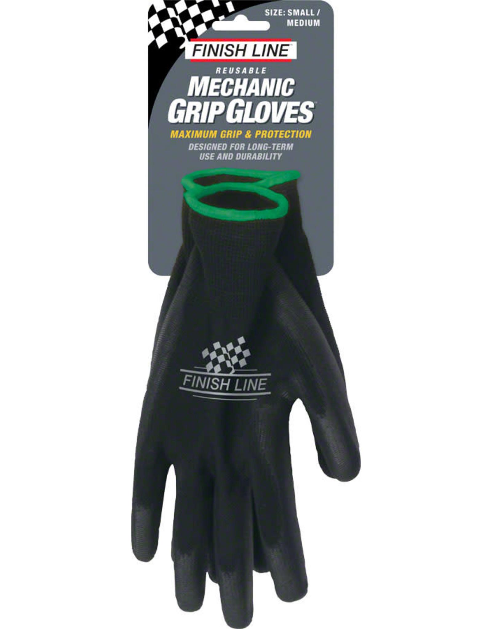 Finish Line Finish Line Mechanic's Grip Gloves, SM/MD