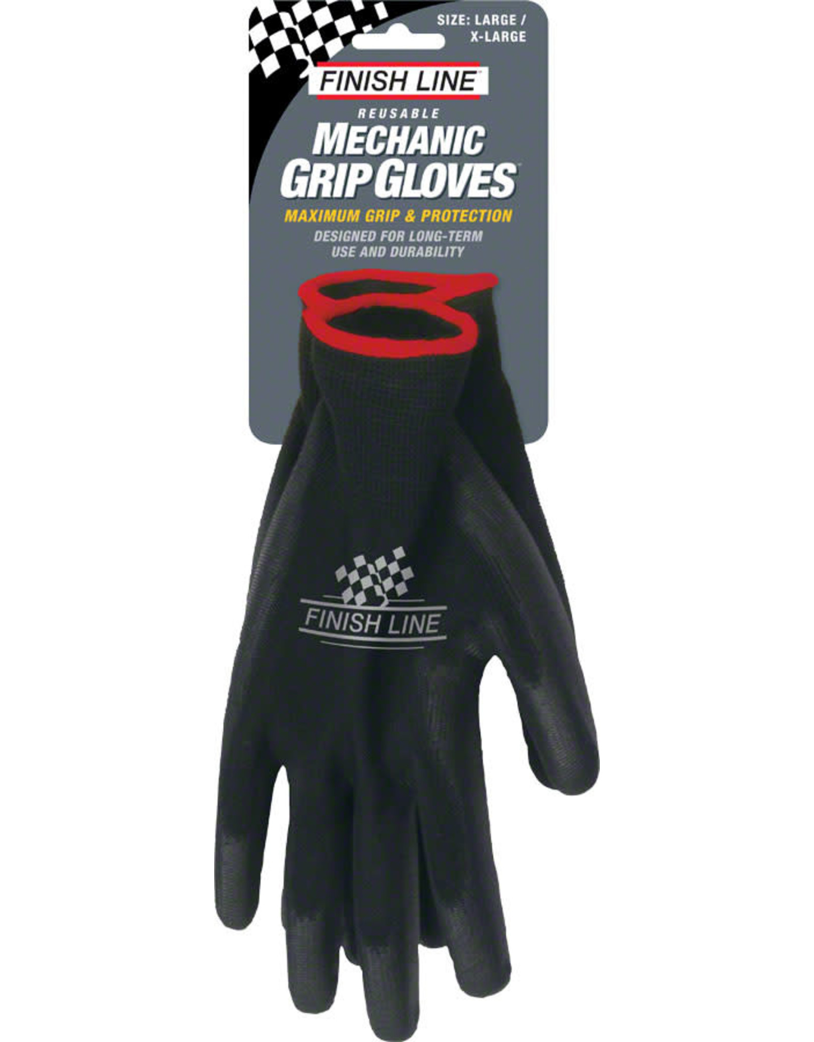 Finish Line Finish Line Mechanic's Grip Gloves, LG/XL