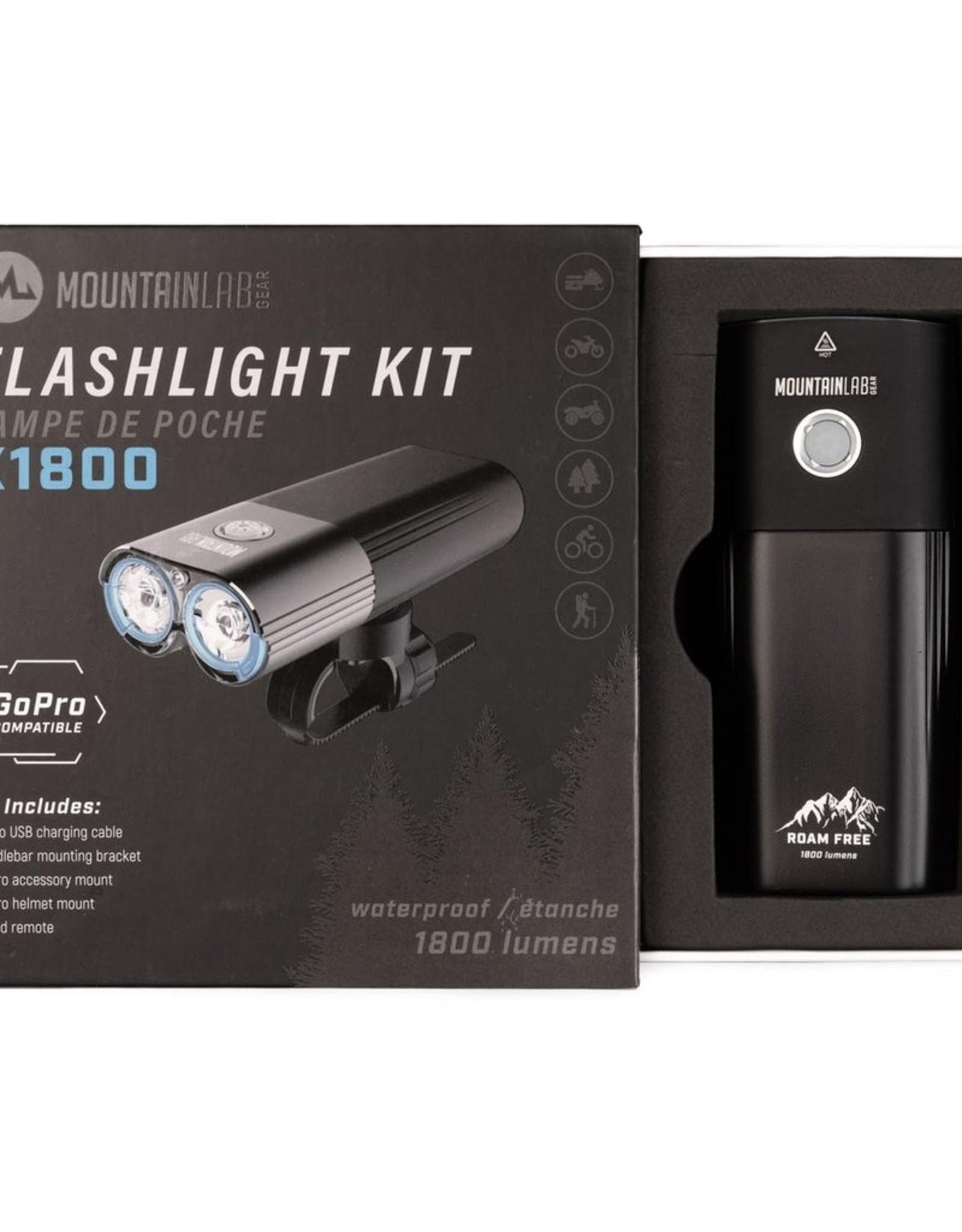 x1800 Lumen Flashlight Kit