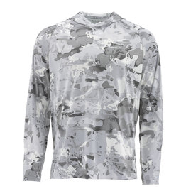 SIMMS SIMMS SOLARFLEX HOODY CLOUD CAMO GREY - SMALL