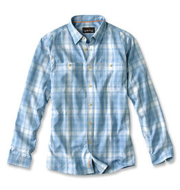 ORVIS ORVIS TECH CHAMBRAY PLAID WORK SHIRT