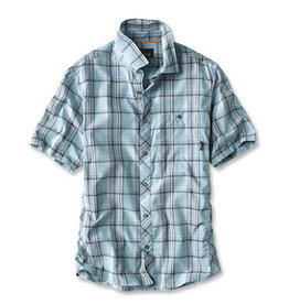 ORVIS Men's Exploded Plaid Short-Sleeved Camp Shirt