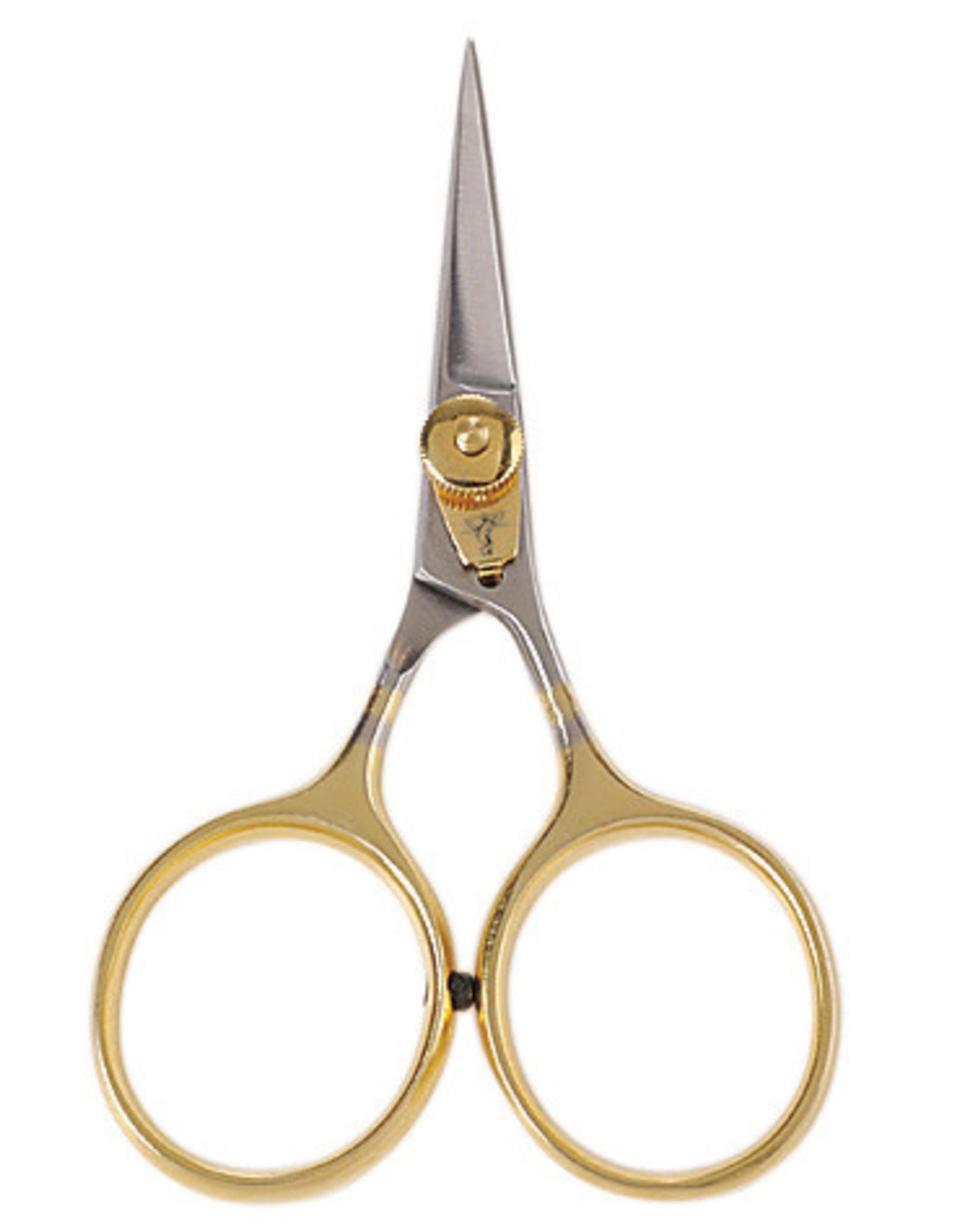 "DR. SLICK Razor Scissor, 4"", Gold Loops, Adjustable Tension, Straight (IMPROVED)"