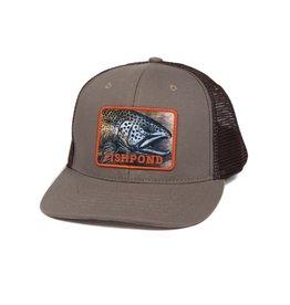 FISHPOND Fishpond Slab Trucker Hat - Sandstone/Brown